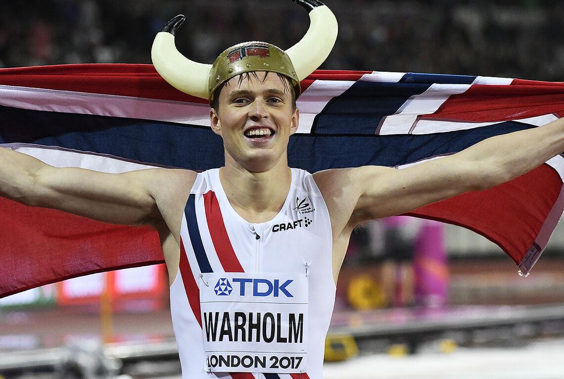 Karsten Warholm har tatt to VM-gull på 400 m hekk: I London 2017 og Doha 2019. Nå mangler bare OL-gullet - som han forhåpentligvis får muligheten til å kjempe om i år. (Foto: Bjørn Johannessen)