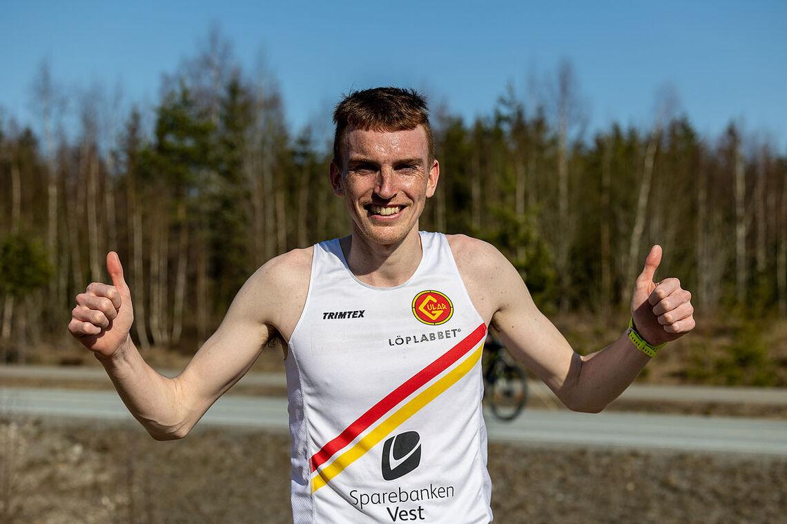 Marius Vedvik fikk en god start på sesongen da han løp 5 km testløp raskere enn han gjorde i fjor. (Foto: Samuel Hafsahl)
