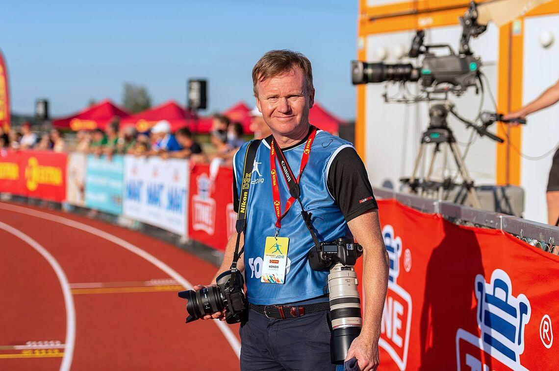 Kondisreporter Arne Dag Myking spør om mosjonister trenger idrettsfest som treningsmål. Bildet er tatt under NM Friidrett på Hamar i 2019. (Foto: Samuel Hafsahl)