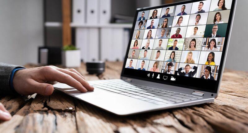 Illustrasjonsbilde av et digitalt møte