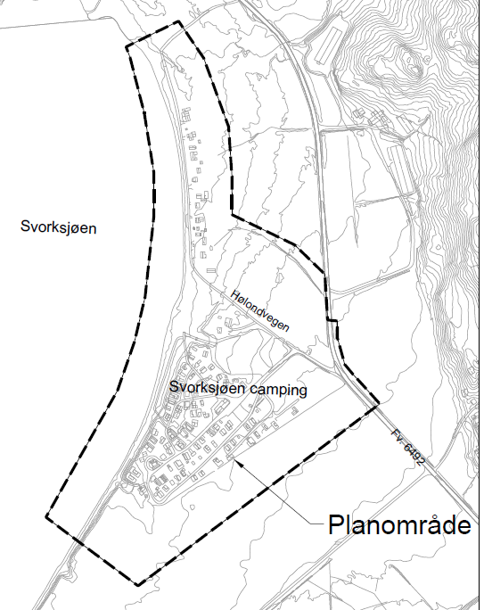 Bilde viser planavgrensningen