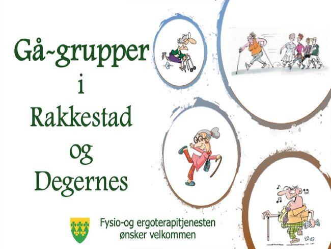 Gå-grupper i Rakkestad og Degernes