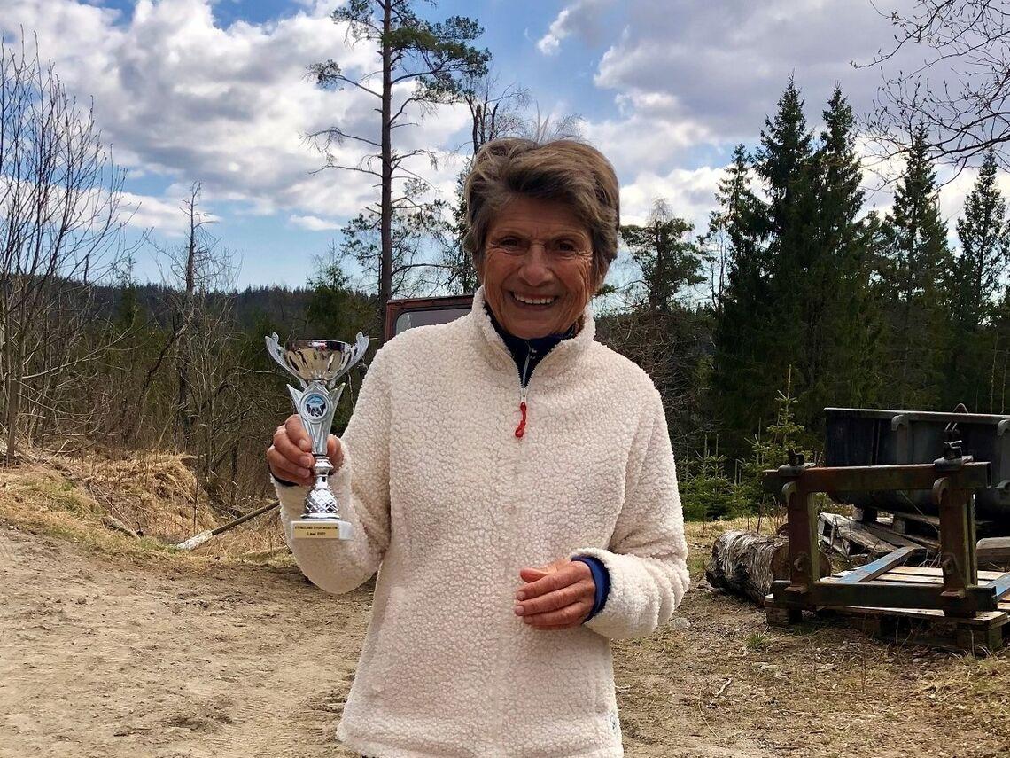 Vera Nystad med ny verdensrekord på maraton i klasse K75.