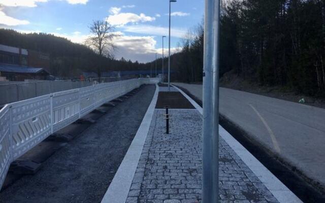 Infrastruktur miljøgate Fjerdingby sentrum