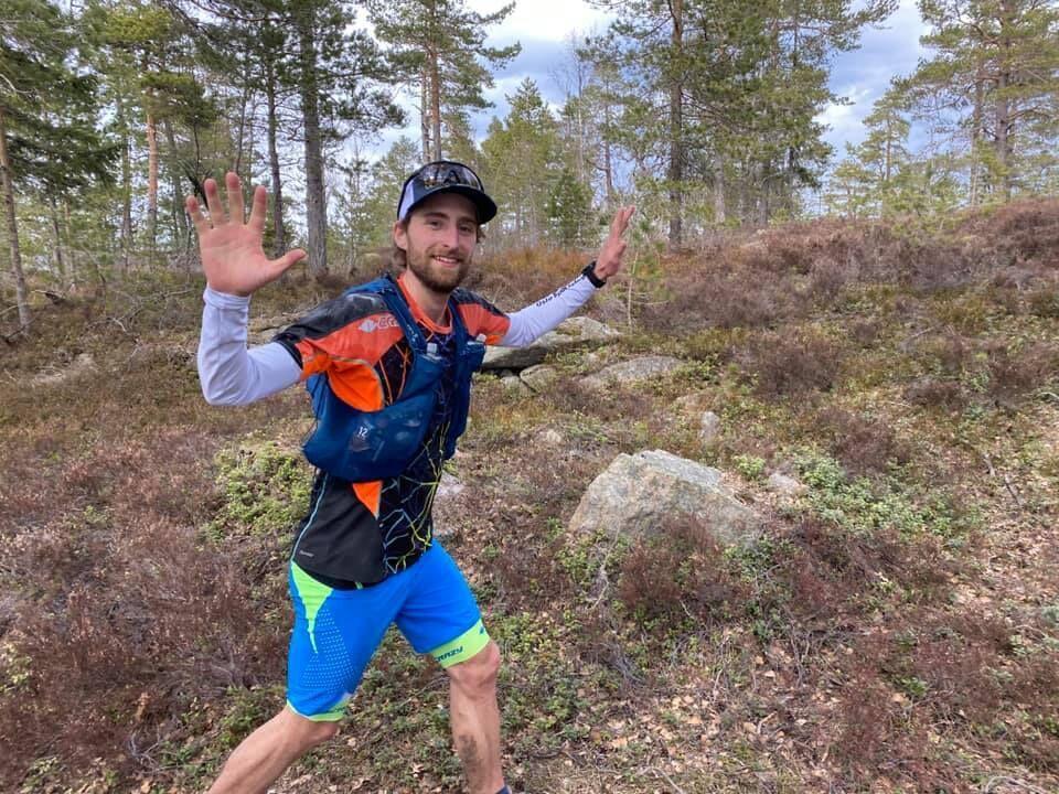 Tobias Dahl Fenre var overlegent raskest i Skogvokteren Ultra (Foto: Roy Grøseth)