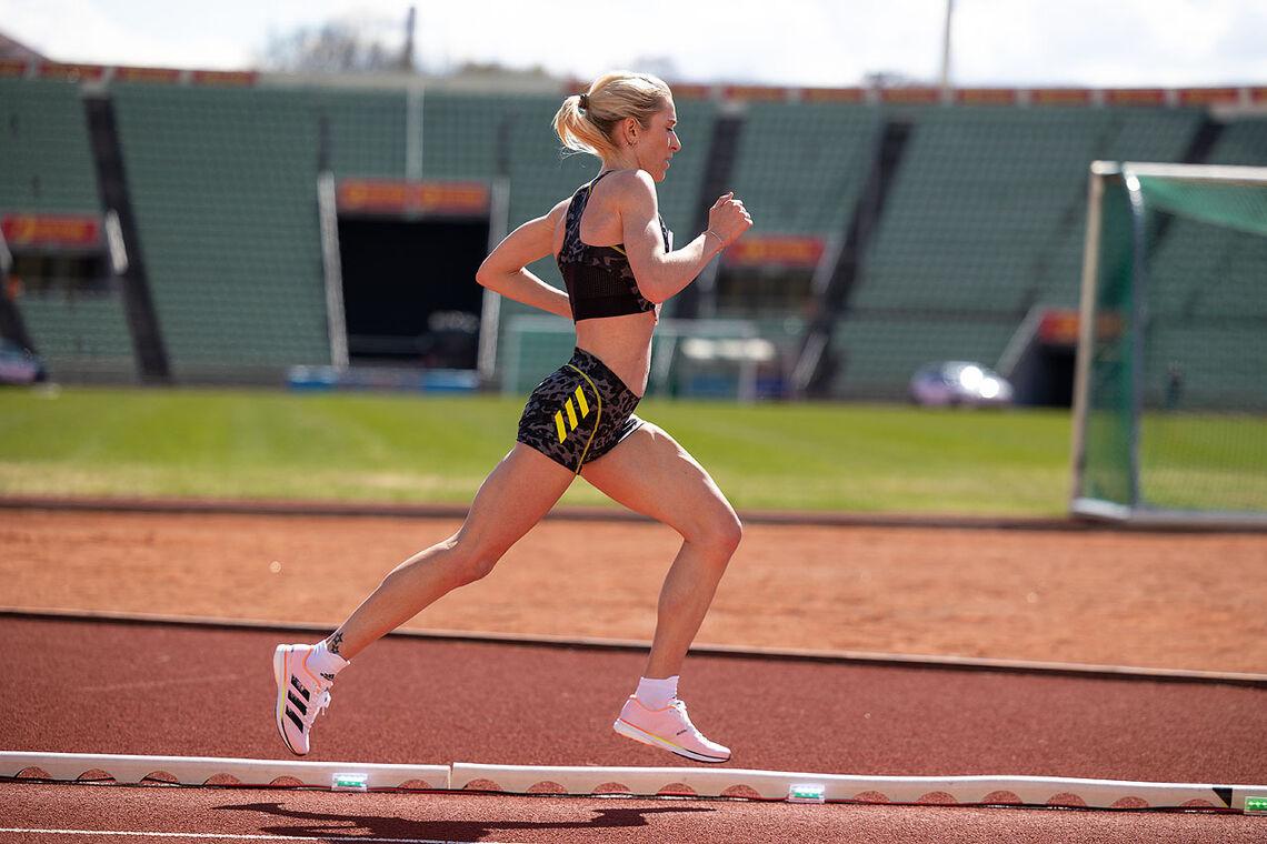 Karoline Bjerkeli Grøvdal leverte et nytt løp under 15 minutter på 5000 m. (Arkivfoto. Samuel Hafsahl)