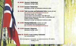 Program for 17.mai i Rakkestad og Degernes 2021