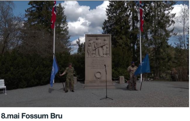 8.mai markering Fossum Bru - 2021