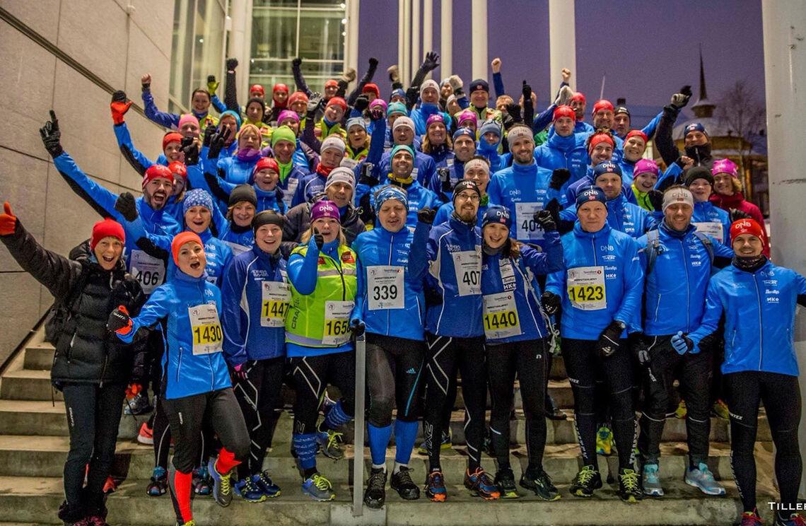 Entusiasmen i Northern Runners er stor enten det er trening eller konkurranse. (Foto: Truls Tiller)