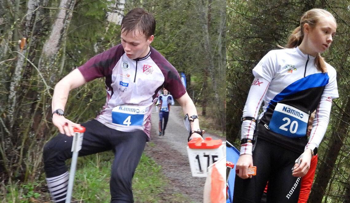 Lars Lien og Marie Kravdal, begge Gjø-Vard OL var best i de eldste klassene H og D 17-20.