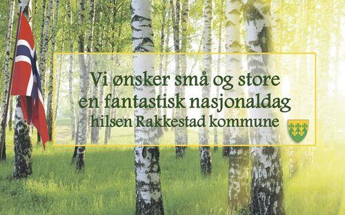 en 17.mai hilsen fra Rakkestad kommune