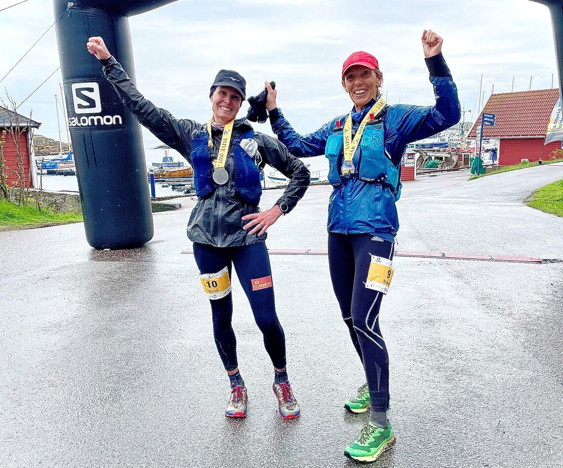 Kirsti Skåtøy Johansen og Sidsel Mohn vant 100 miles for kvinner i årets første norske 100-milesløp. Duoen skal senere i sommer løpe Oslo Bergen Trail sammen. (Foto: Mona Kjeldsberg)