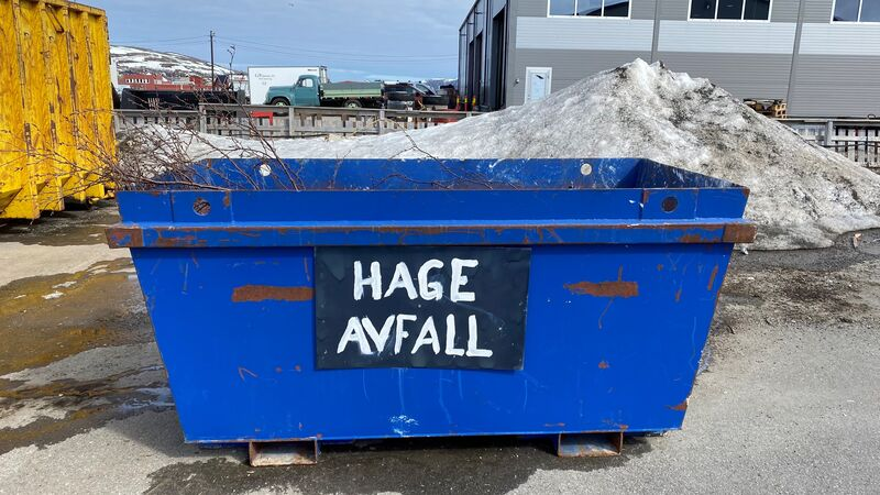 hageavfall container