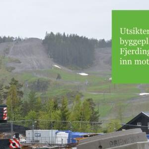 Utsikt fra ny Fjerdingby skole tomt