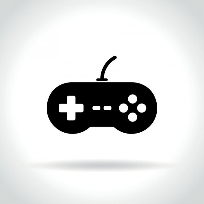 23854495-video-game-icon-on-white-background