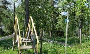 Tilgang til gapahuk og badestrand - Suteren Friluftsområdet  Rakkestad kommune