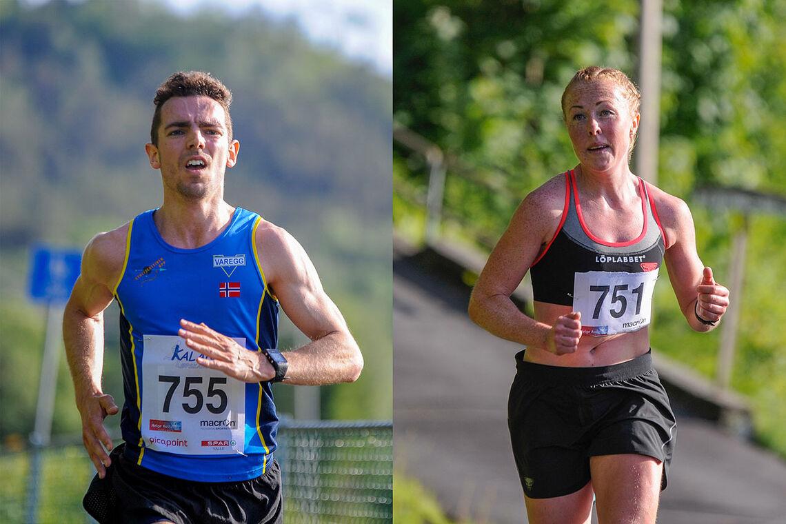Tage Morken Augustson og Eli Anne Dvergsdal gjorde gode løp i Kaland Løpskarusell og satte nye løyperekorder. (Alle foto: Arne Dag Myking)