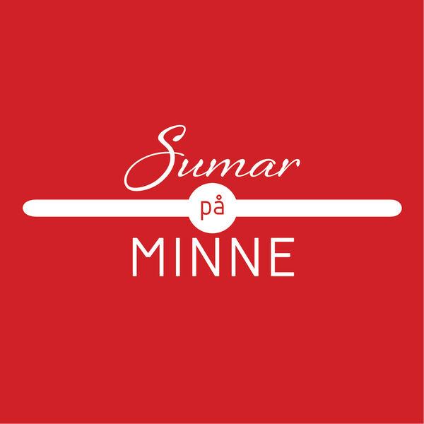 Sumar på Minne hvit logo rød bakgrunn