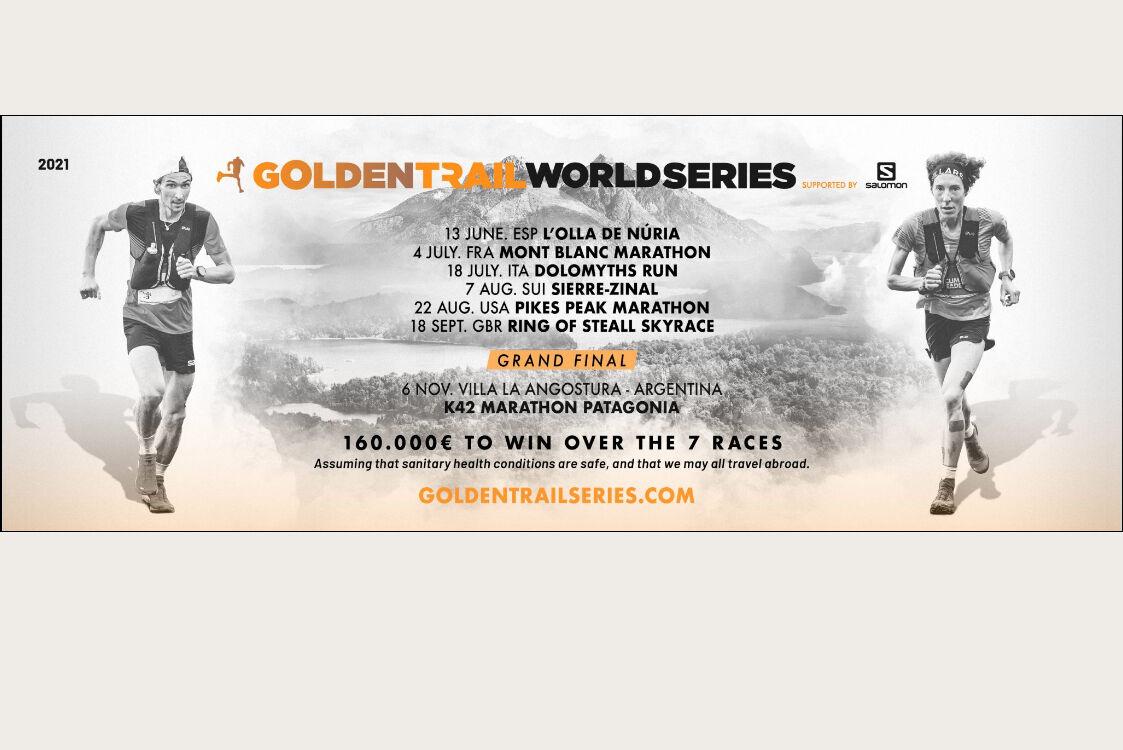 Plakaten som viser årets løp i Golden Trail World Series.