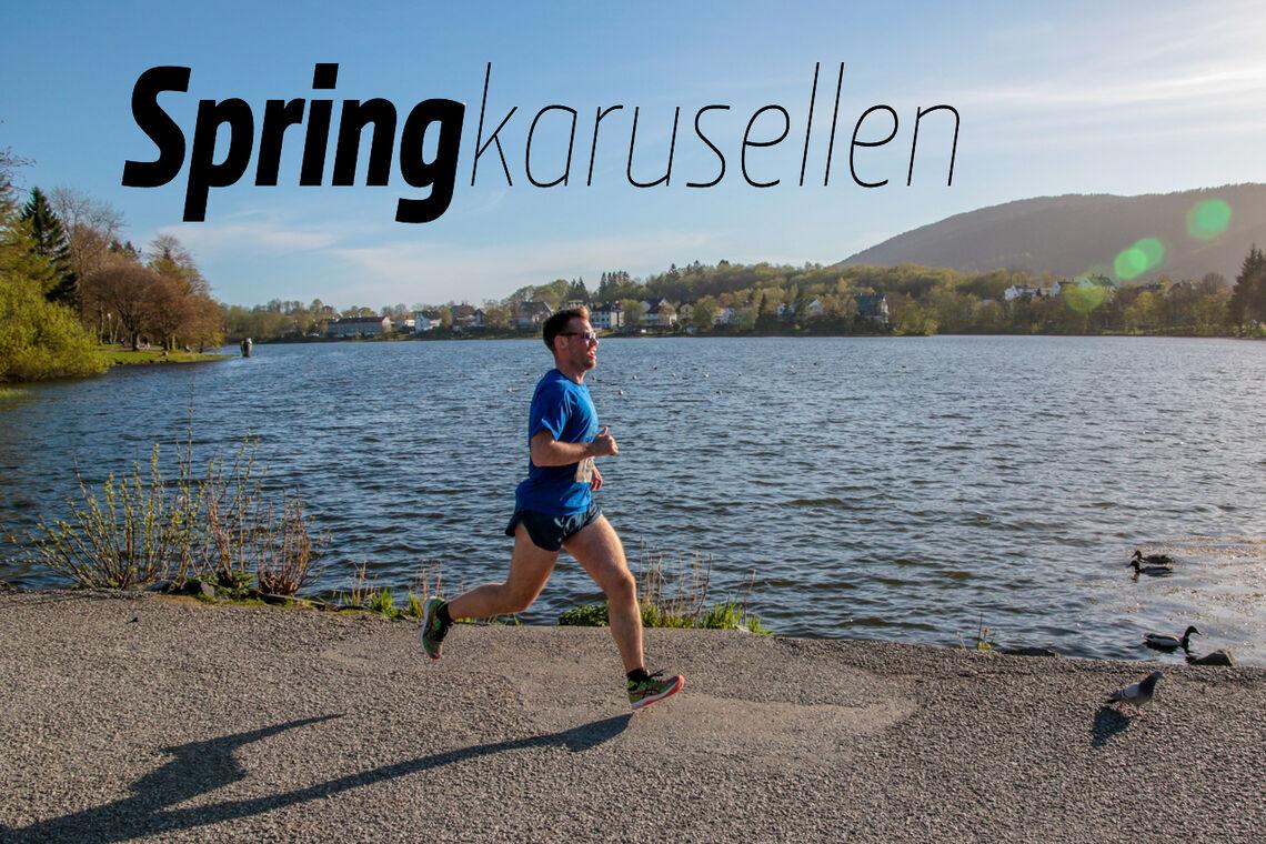 Springkarusellen er en serie med løp som går i en fast løype rundt Tveitevannet i Bergen. (Foto: Arne Dag Myking)
