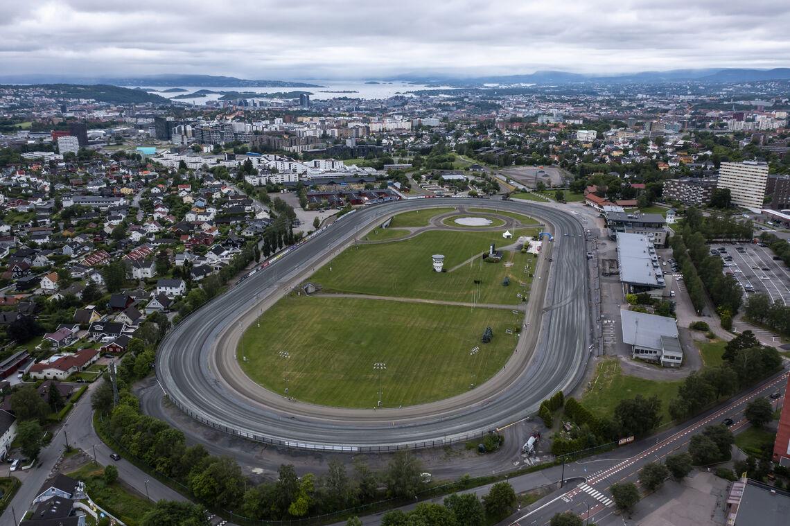 Bjerkebanen sett fra oven (Foto: Bjørn Hytjanstorp)