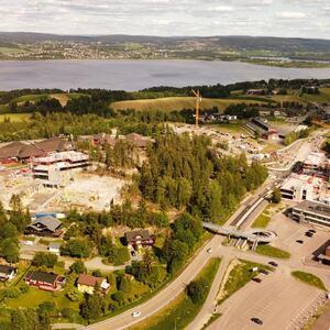Fjerdingby sentrum dronebilde 170621