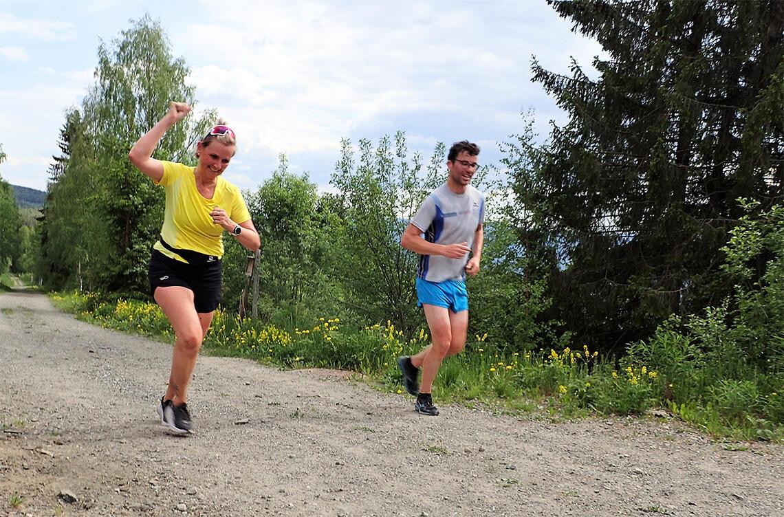 Løpegleden var stor da mange av trenerne fra Kondistreninger rundt omkring i landet møttes til seminar på Lillehammer. De fikk også muligheten til å delta i et av løpa i Sørdalskarusellen. (Foto: Marianne Røhme)