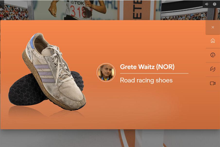 Maratonskoene til Grete Waitz fra 1982.