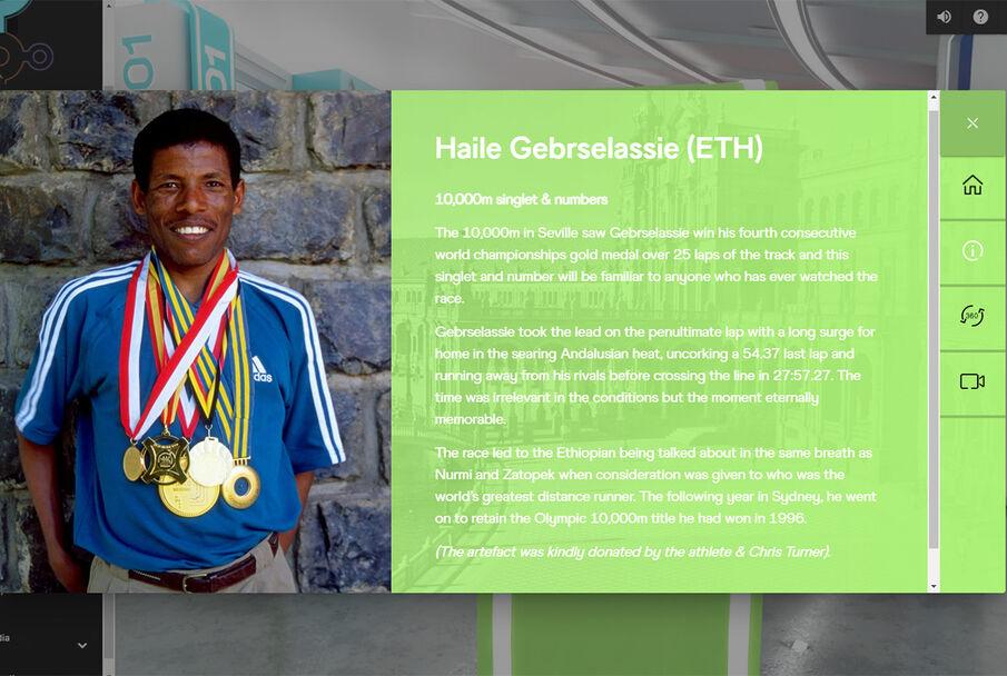 En legende fra noe mer moderne tid er Haile Gebrselassie. Etioperen vant gull på 10 000 m i OL 1996 og 2000. På samme distanse tok han også VM-gull i fire mesterskap på rad - 1993, 1995, 1997 og 1999. Han satte 25 verdensrekorder på 5000 og 10 000 m.