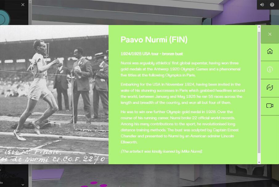 Finske Paavo Nurmi var på 1920-tallet friidretten og langdistanseløpingens store superstjerne og vant blant annet tre OL-gull i 1920, ytterligere fire i 1924 og ett i 1928. Han satte 22 offisielle verdensrekorder.