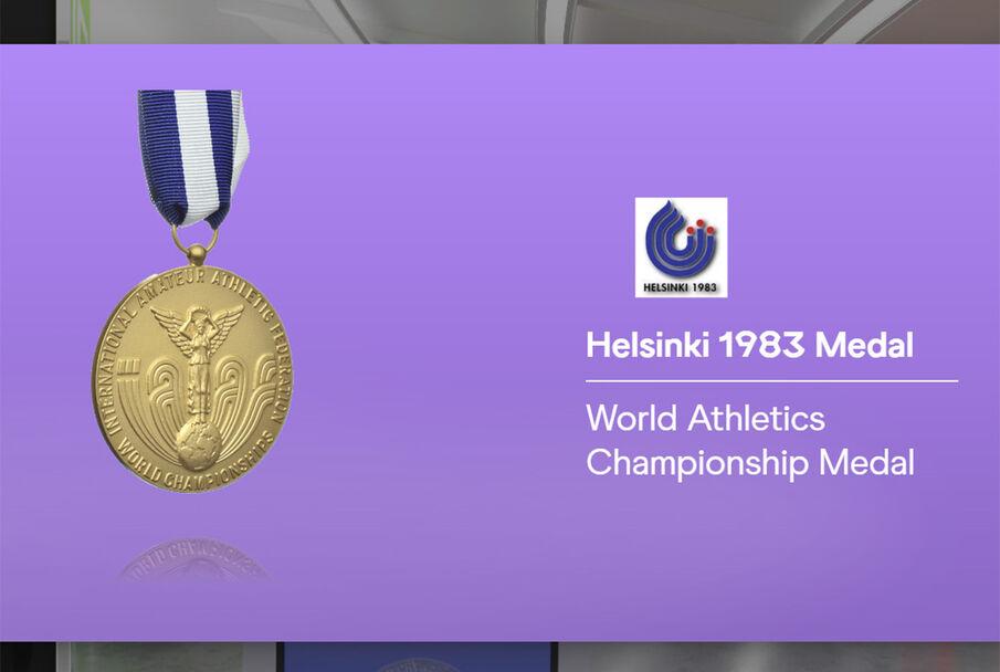 For alle VM er det blant annet også bilde av gullmedaljen som ble delt ut under mesterskapet.
