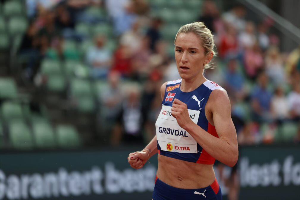 Karoline Bjerkeli Grøvdal er en av de 15 som skal løpe OL-finale på 5000 m på mandag. (Arkivfoto: Samuel Hafsahl)