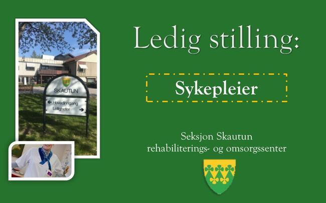 Ledig stilling sykepleier ved Skautun rehabiliterings- og omsorgssenter - Rakkestad kommune