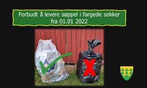 ja til gjennomsiktig sekk - Sort sekk forbudt fra 010122 - Rakkestad kommune