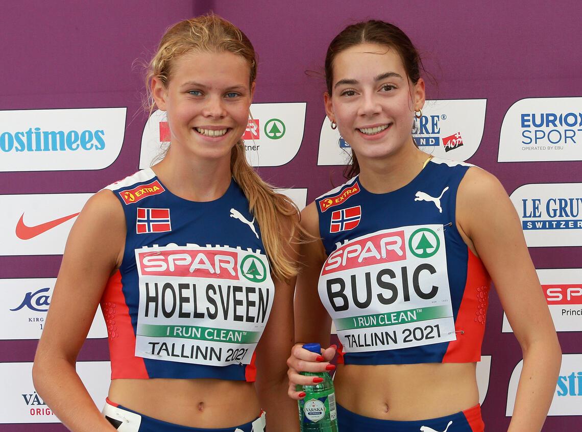 Malin Hoelsveen kvalifiserte seg på tid til finalen på 1500 m, mens Sara Busic vant sitt forsøksheat. I tillegg gikk Ingeborg Østgård videre til finalen etter å ha kommet på 3. plass i sitt heat. (Foto: Kjell Vigestad)