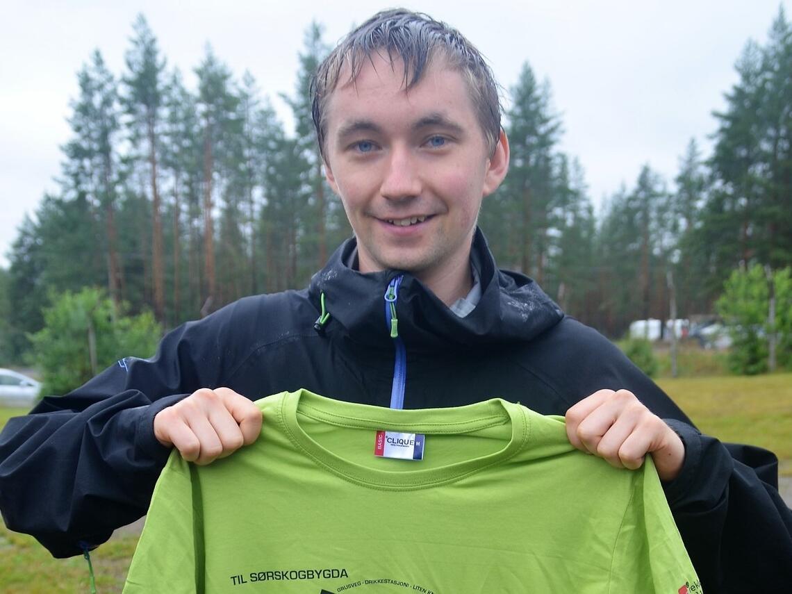 Fjorårets raskeste, Lavrans Torsteinsen, har tatt ledelsen med 45,06 i herreklassen i Risberget Rundt så langt.  (Foto: Erik Øsmundset)