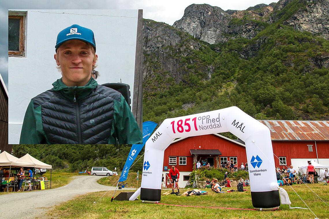 Morten Antonsen var første mann i mål på fjelløpet 1851OppNed. (Foto: Arne Dag Myking)