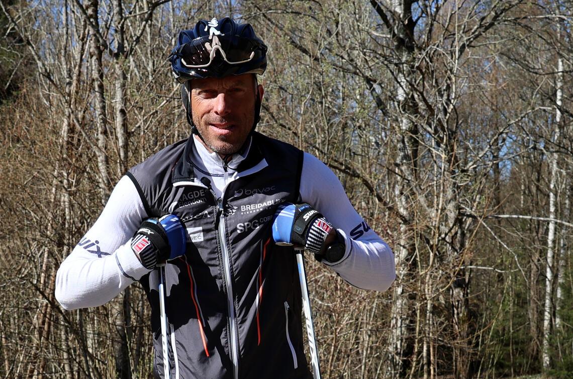 Erfarne Anders Aukland gir tips og råd til deg som har lyst til å begynne med trening på rulleski. (Foto: Tom-Arild Hansen)