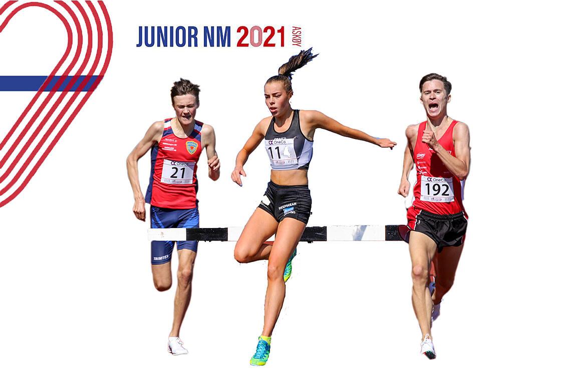 Noen av dem som var påmeldt til årets junior-NM: Magnus Tuv Myhre, Kristine Alne og Magnus Gjerstad. (Fotomontasje Arne Dag Myking)