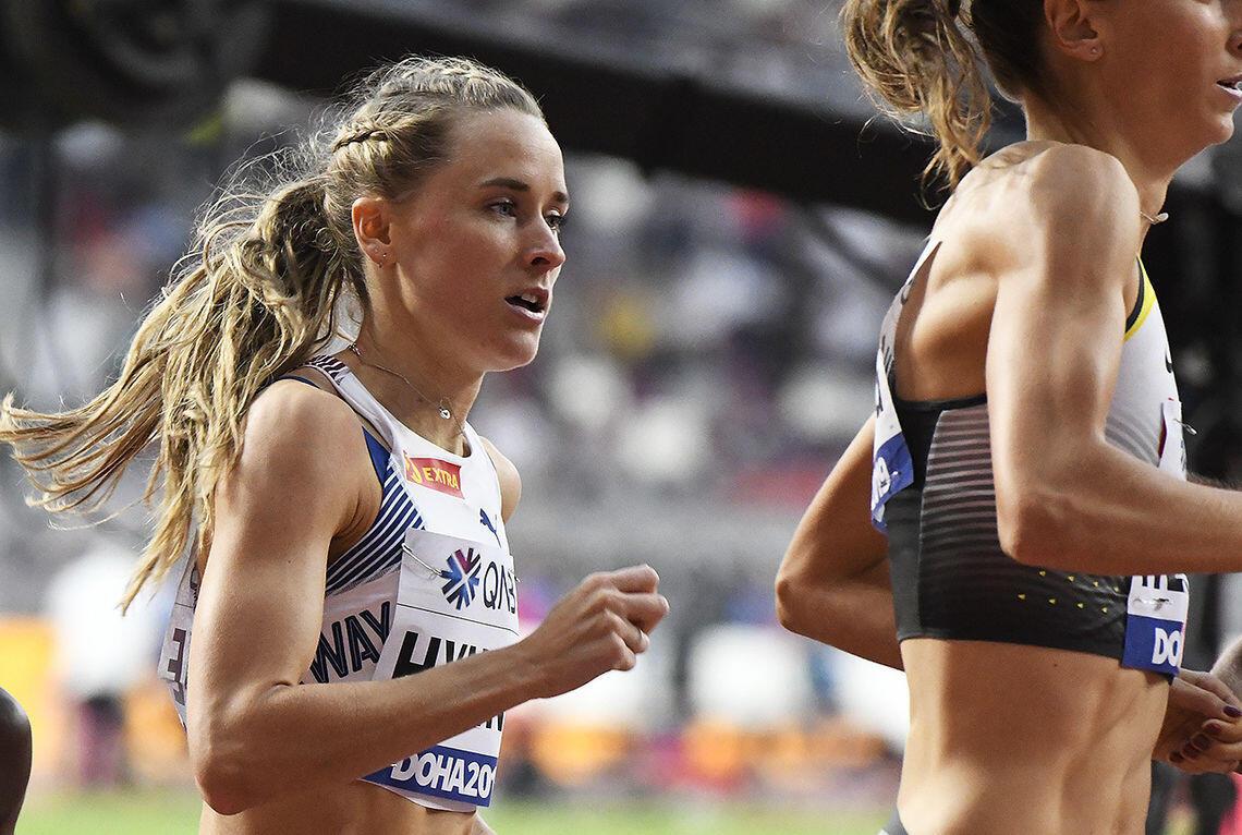 Med sjuendeplass i semifinaleheatet var Hedda Hynne et godt stykke unna finaleplass. (Arkivfoto: Bjørn Johannessen)