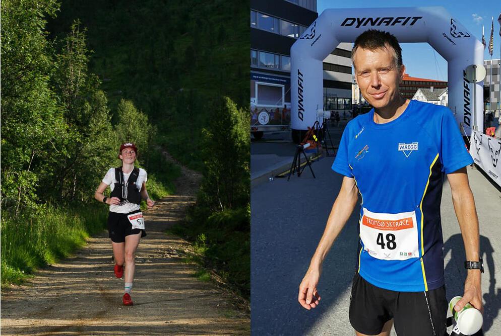 Therese Årvik og Lars Olaf Haaheim vant den lengste løypa, Hamperokken Skyrace på 57 km, i det krevende fjellterrenget ved Tromsø. (Foto: Jakob Grahn og Liza Goodwin / Tromso Skyrace)