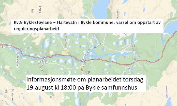 Informasjonsmøte Rv9 Byklestøylane - Hartevatn