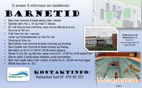 Velkommen til barna for badetiludet: Barnetimen ved Rakkestad bad