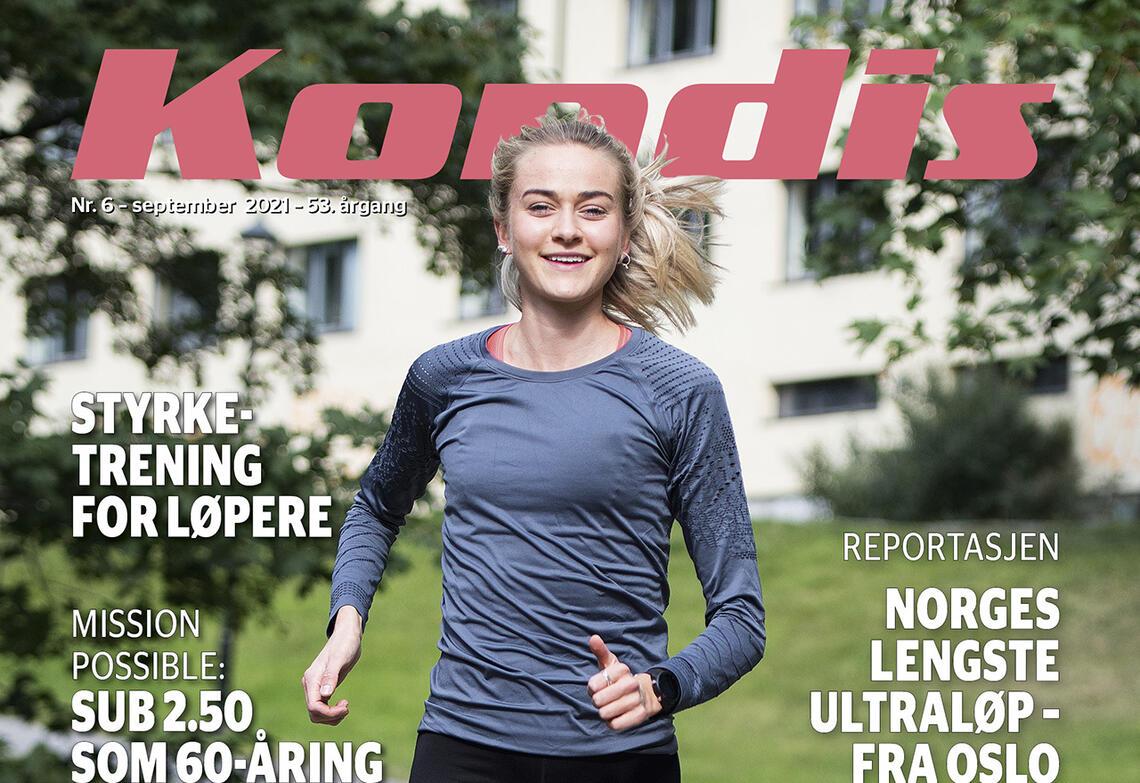 Amalie Sæten trener målbevisst for å utvikle seg som løper, både fysisk og taktisk. (Foto: Bjørn Johannessen)