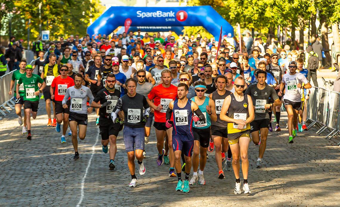 Nesten 3000 løpere deltok i 2021-utgaven av Trondheim Maraton. (Foto: Kjell Thore Leinhardt)