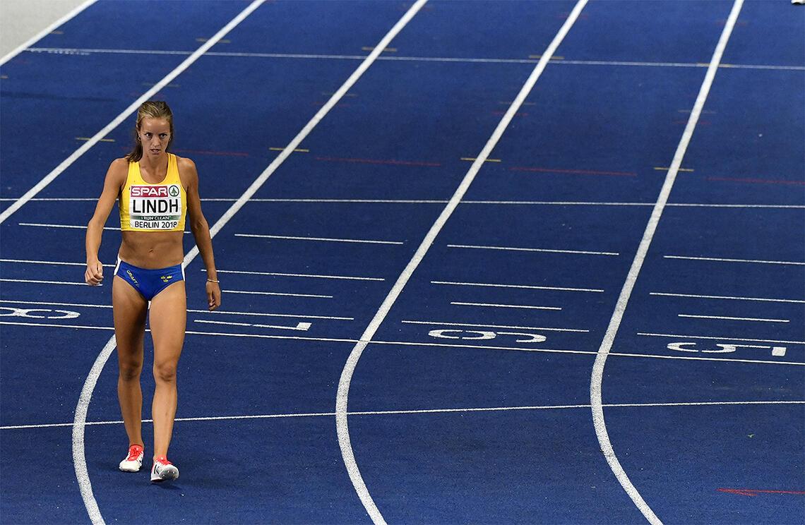 Utelaten: Leiarane i den svenske olympiske komiteen klarte å leggje nok ein olympisk draum i grus. Ei av dei det gjekk utover, var 800 meter-løparen Lovisa Lindh. (Foto: Bjørn Johannessen)