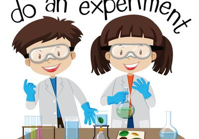 vector-two-kids-doing-experiment-in-science-lab