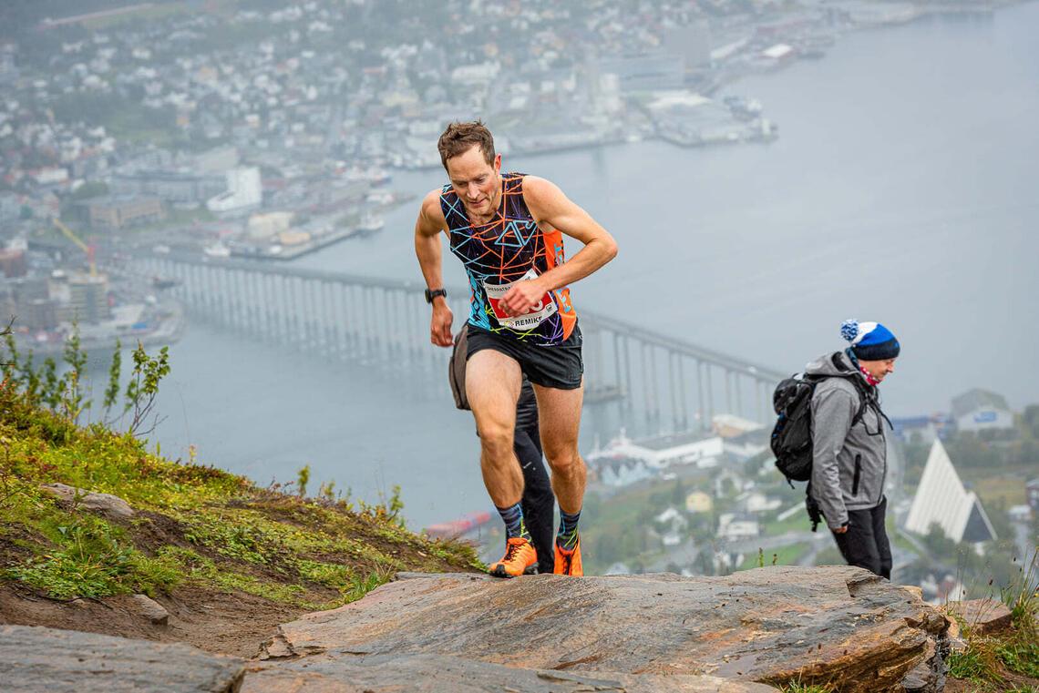 Eirik Haugsnes var den som løp fortest opp Sherpatrappa