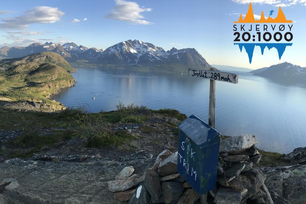 På den idylliske øyen Skjervøy i Troms har de arrangert sitt første fjelløp, Skjervøy 20:1000. (Alle foto er fra Facebook-siden til arrangementet).