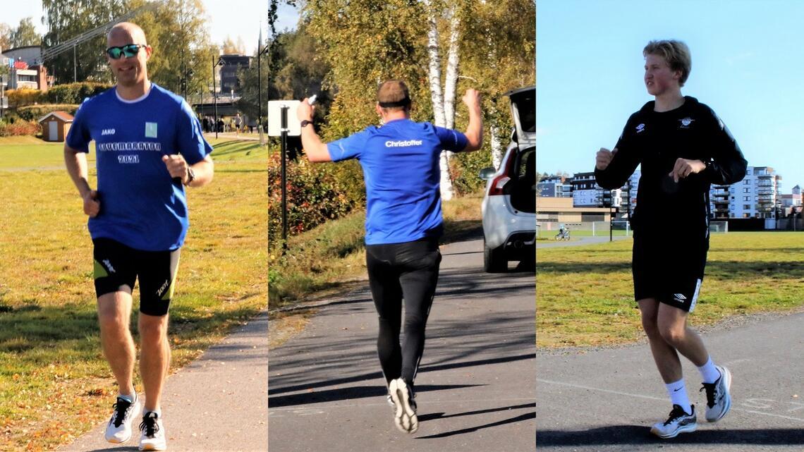 Tre maratondebutanter